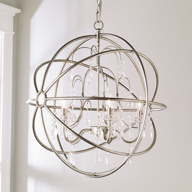 Metallic Sphere Chandelier Farmhouse Light Fixtures Unique