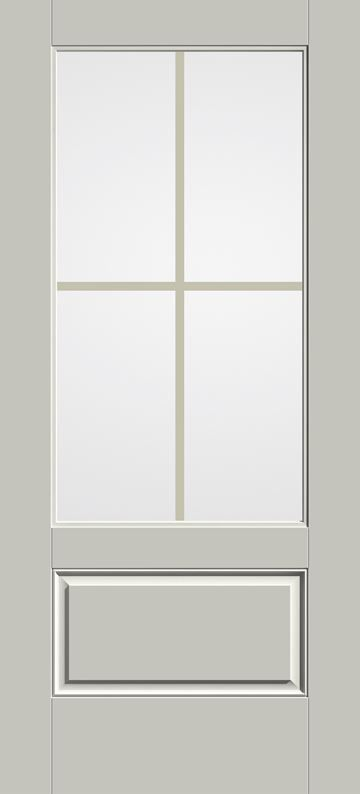 Smooth Star 3 4 Lite 1 Panel Flush Glazed Entry Door S2103 Gbgc Therma Tru Exterior Doors With Glass Entry Doors With Glass Exterior Doors