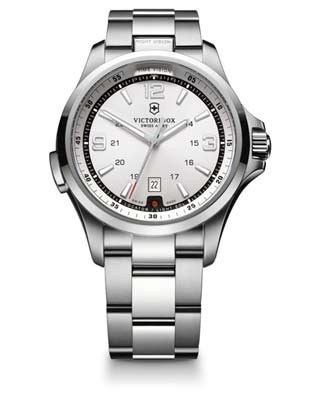 Victorinox Swiss Army Night Vision Mens Watch – Silver White Dial – Steel