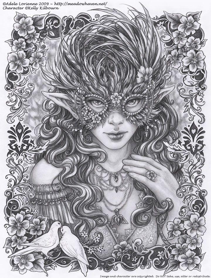 Masquerade Wild Rose by Adele