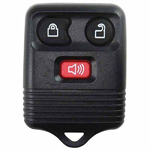 Keylessoption Black Replacement 3 Button Keyless Entry Remote Control Key Fob Clicker Keyless Entry Car Keyless Entry Locks Ford Explorer Sport