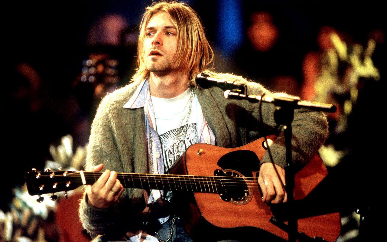 Kurt Cobain MTV Unplugged in New York HD Wallpaper