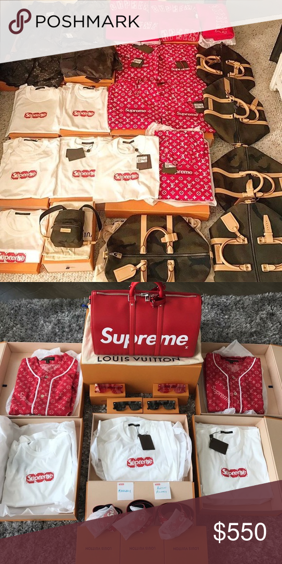 Supreme X Louis Vuitton Collection All Sizes Ing My