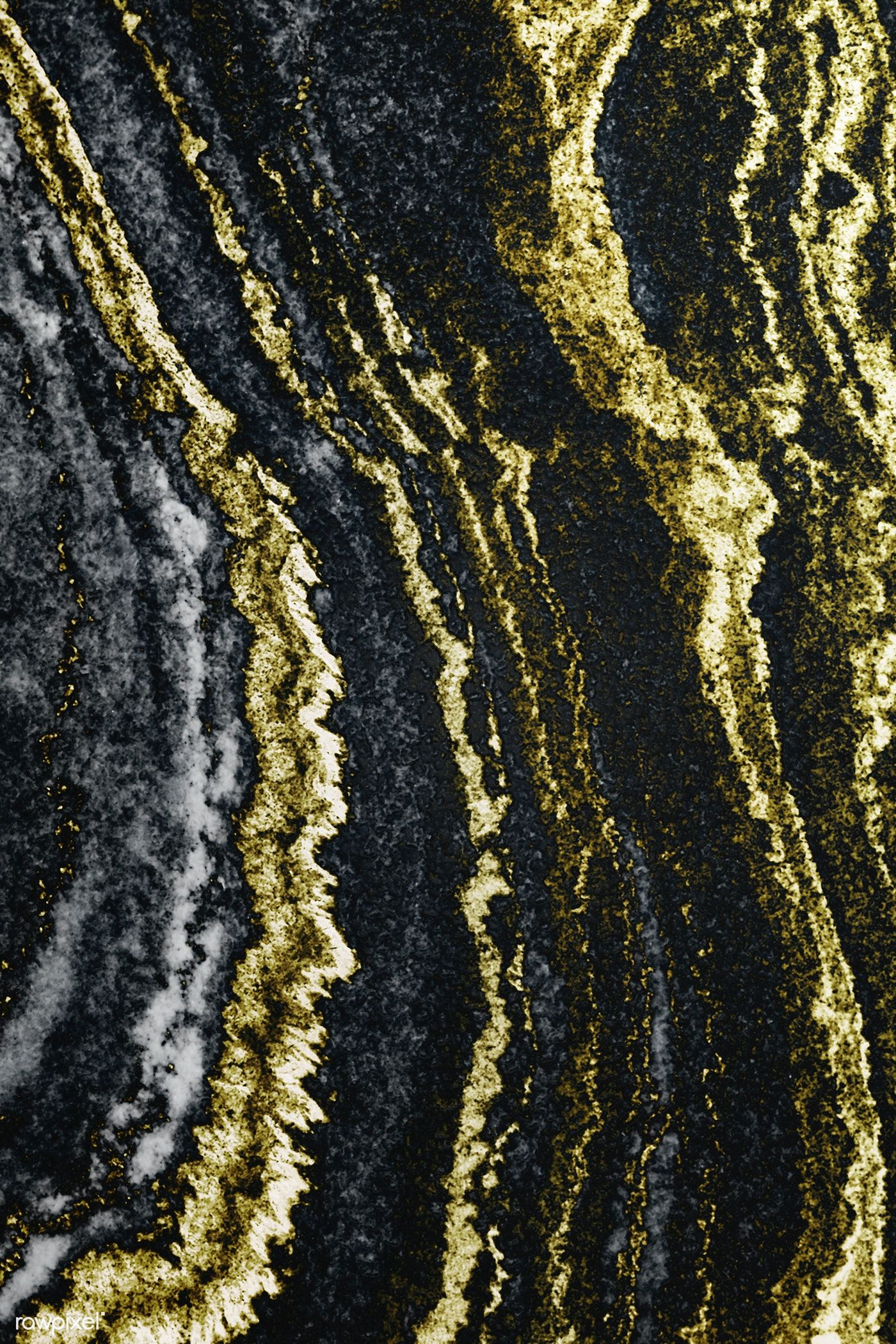 Gold And Black Layered Marble Textured Background Free Image By Rawpixel Com Chim Textured Background Black Texture Background Black Marble Background