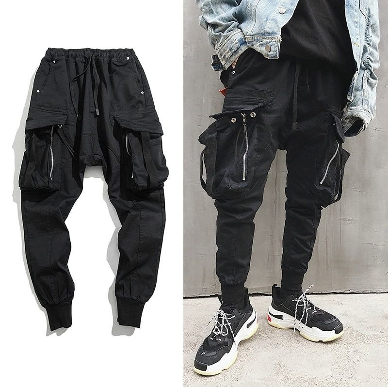 Clothes, Shoes & Accessories Harajuku Retro Casual Loose Hip-hop Dance Punk Gothic Boyfriend Harem Trousers