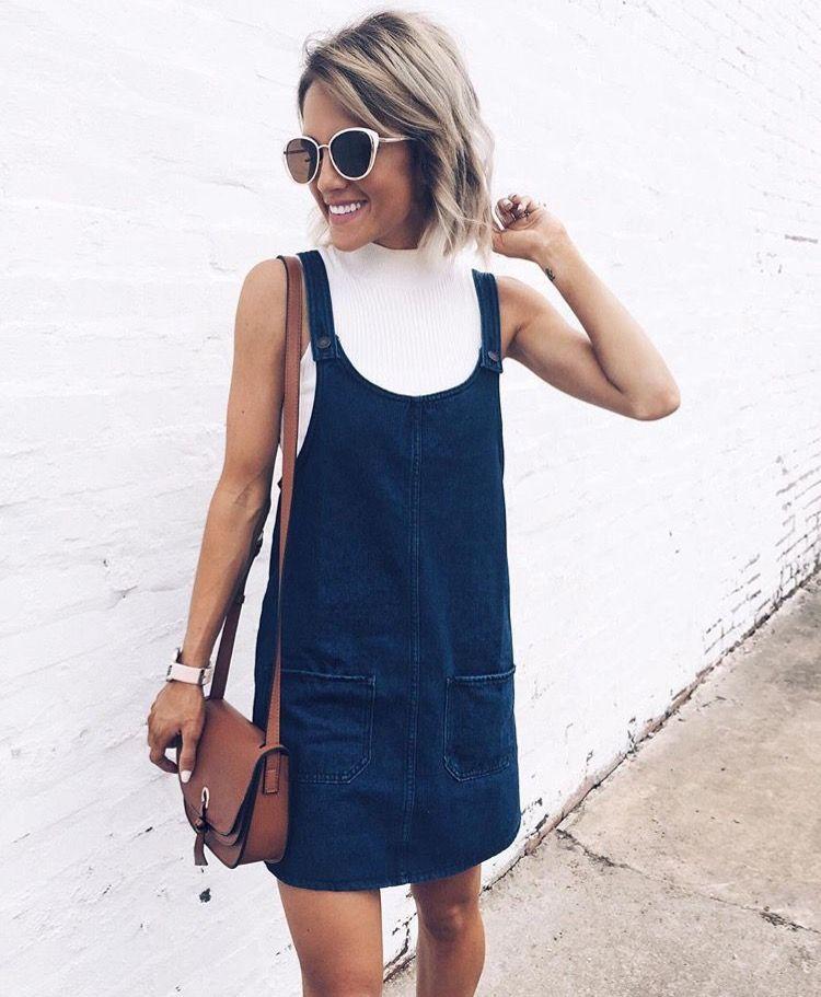 2ad90e8d9a7f Denim Dress Outfit Summer