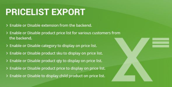 Price list export Magento2 . Price has features such as High Resolution: No, Compatible Browsers: IE7, IE8, IE9, IE10, IE11, Firefox, Safari, Opera, Chrome, Edge, Software Version: Magento 2.1.3, Magento 2.1.2, Magento 2.1.1, Magento 2.1.0, Magento 2.0.7, Magento 2.0.6, Magento 2.0.5, Magento 2.0.4, Magento 2.0.2, Magento 2.0.1, Magento 2.0.0