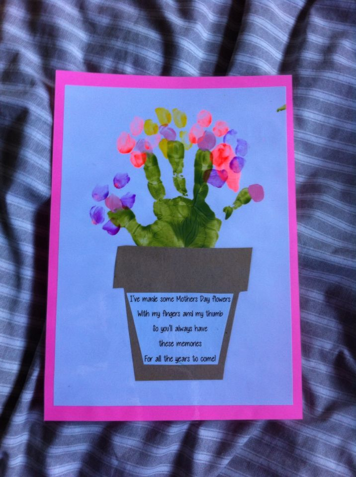 Mother S Day Placemat Gift Lovely Poem And Flowerpot Flowers Made With Handprints Made By My 5yo Aww Mothers Day Poems Mothers Day Cards Mothers Day Crafts