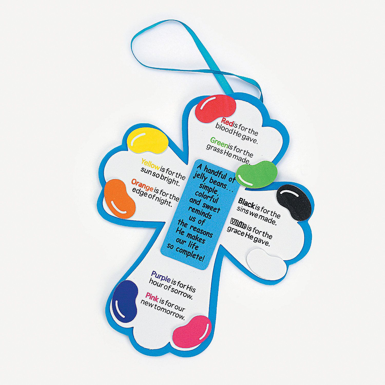 Jelly Bean Prayer Crosses Craft Kit