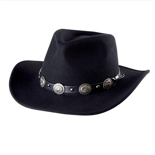 San Diego Hat Company Western Style Fedora ( 73) ❤ liked on Polyvore  featuring accessories adc2f6a205a