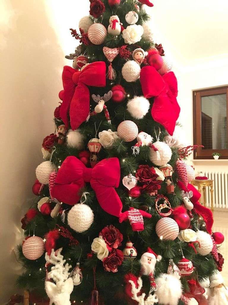 Foto Alberi Di Natale Bianchi albero di natale bianco e rosso (con immagini) | alberi di