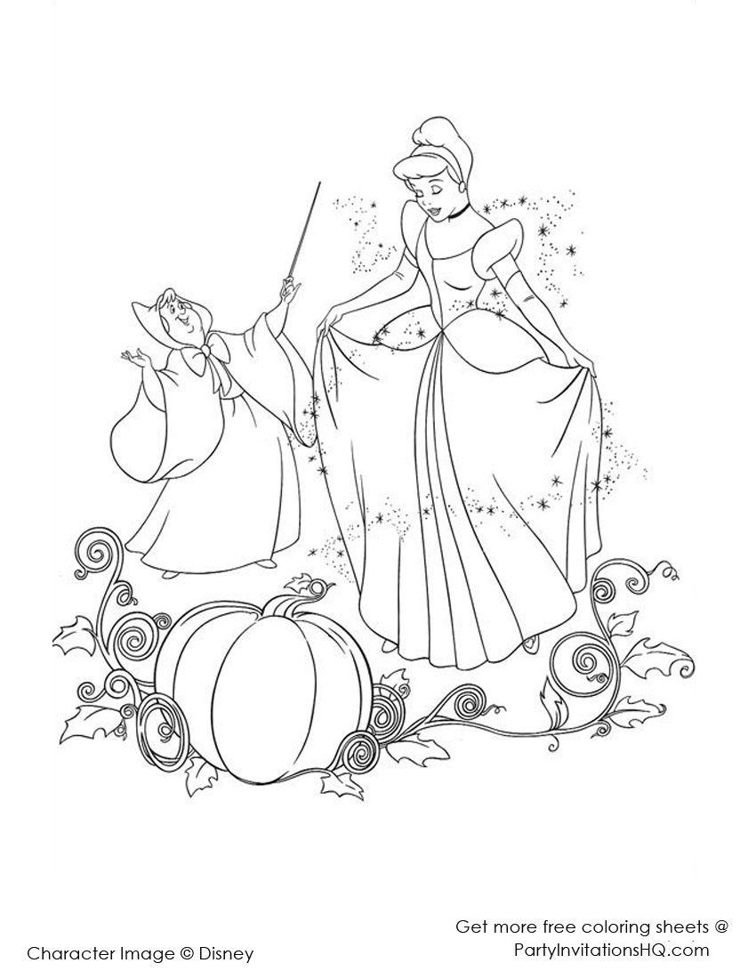 Disney Cinderella Coloring Page Cinderella Coloring Pages Disney Princess Coloring Pages Princess Coloring Pages