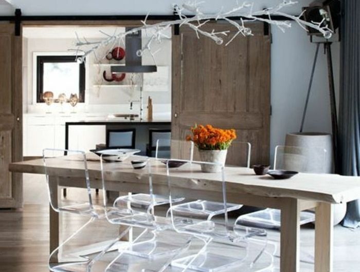 Pourquoi choisir la chaise design transparente? 40 raisons en photos - Conforama Tables De Cuisine