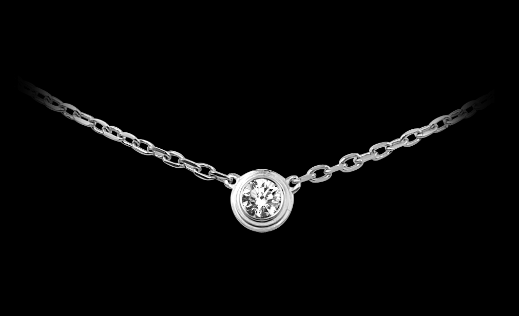 9febf23149f12 A simple single diamond necklace from Cartier. Nothing more. Nothing ...