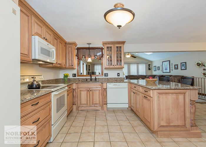 Image Result For Maple Cabinets With White Appliances Maple Cabinets Kitchen Remodel Finish Kitchen Cabinets