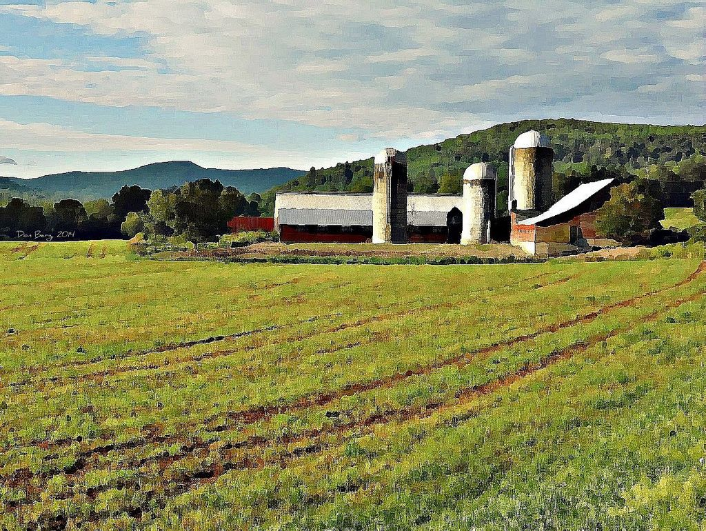 Taconic Barnscape, Spring, 2014, Photo Painting by Don Berg