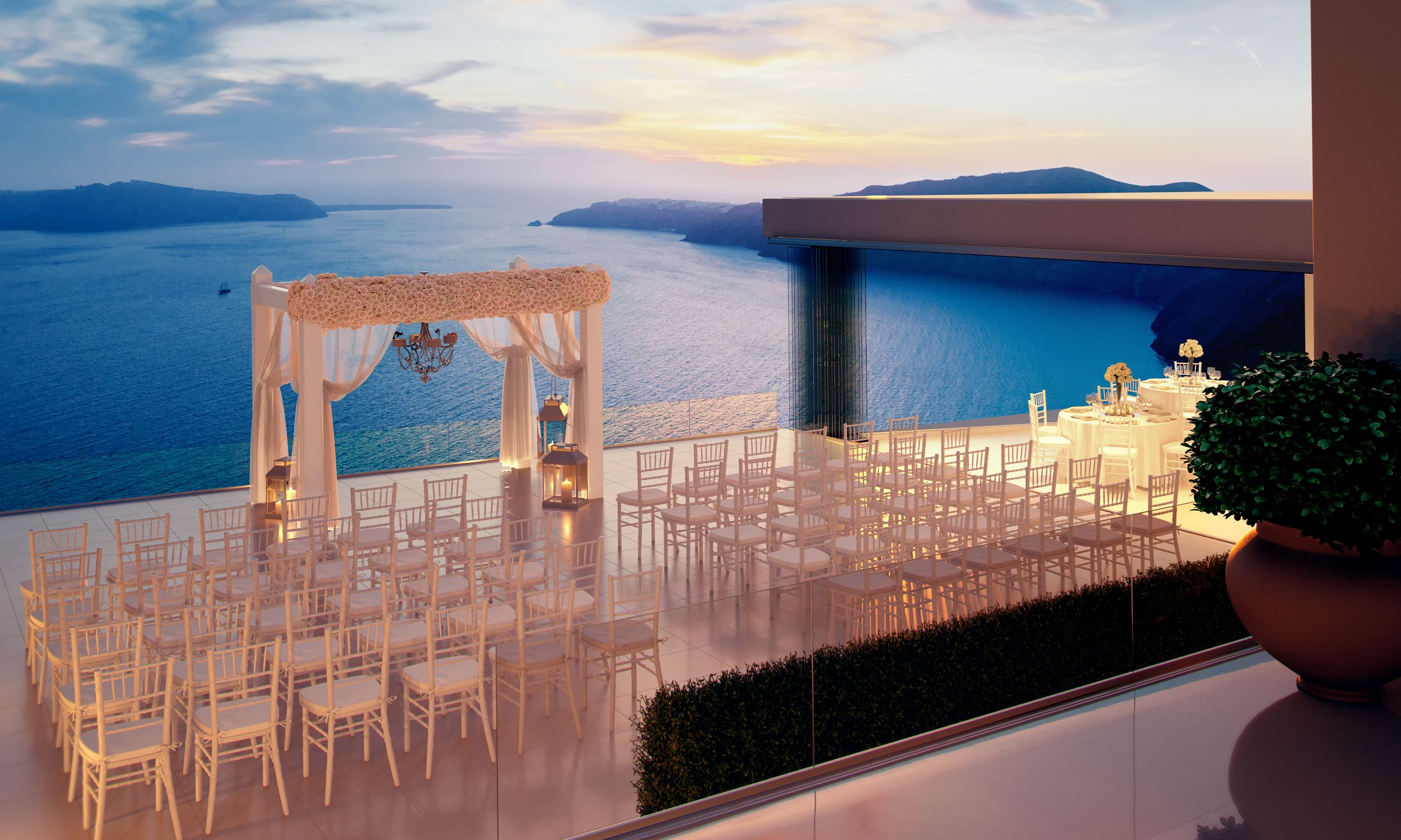 Perfect wedding decoration in Santorini @heliotoposweds