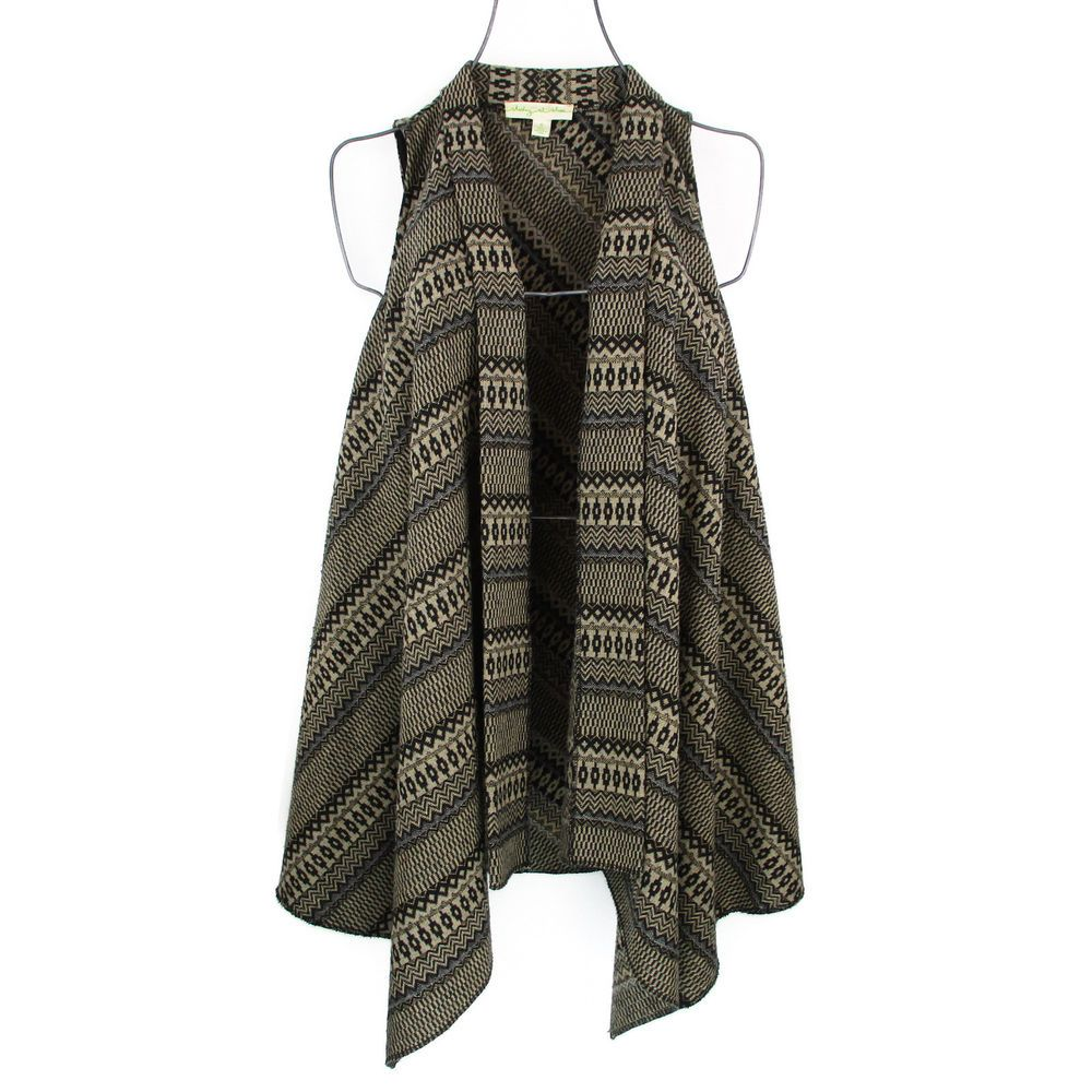Staring At Stars Cardigan Sweater S Small Blanket Vest Brown ...