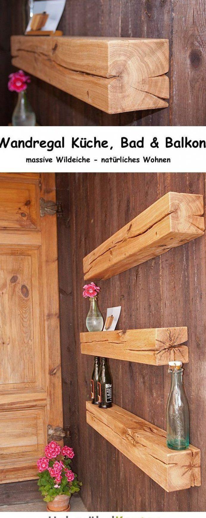 Wandregal f r K che Bad und nat rlich auch Terrasse und Balkon Diese stilvollen Balken ...