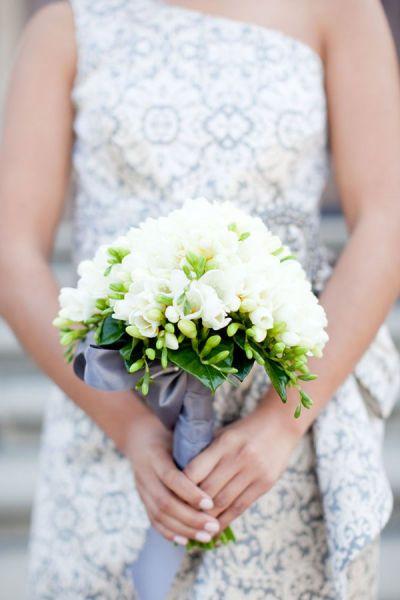 fresia wedding bouquet