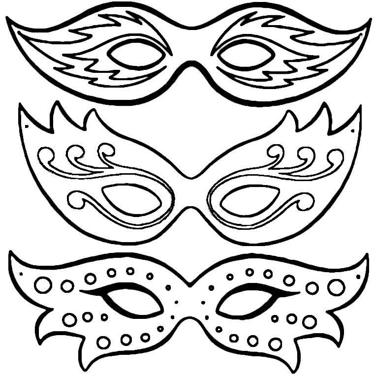 Coloriage masques de carnaval a imprimer gratuit coloriage coloriage carnaval masque - Dessins carnaval ...