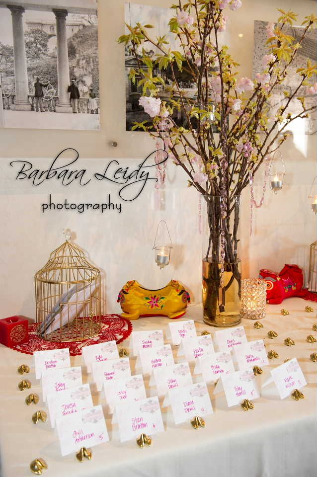 Escort card table at Water Works Restaurant and Lounge