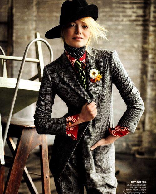 Emma Stone photographed by Mario Testino