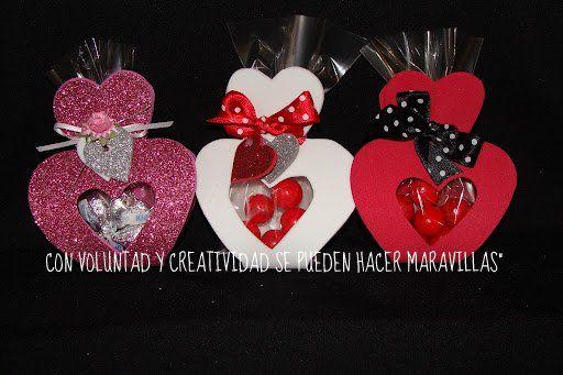 Porta bombones de corazon amor pinterest adornos de foami manualidades de fomi y Adornos san valentin manualidades