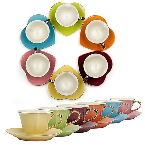 Yedi - Inside Out Hearts Coffee Cup and Saucer Set | For the Home ...