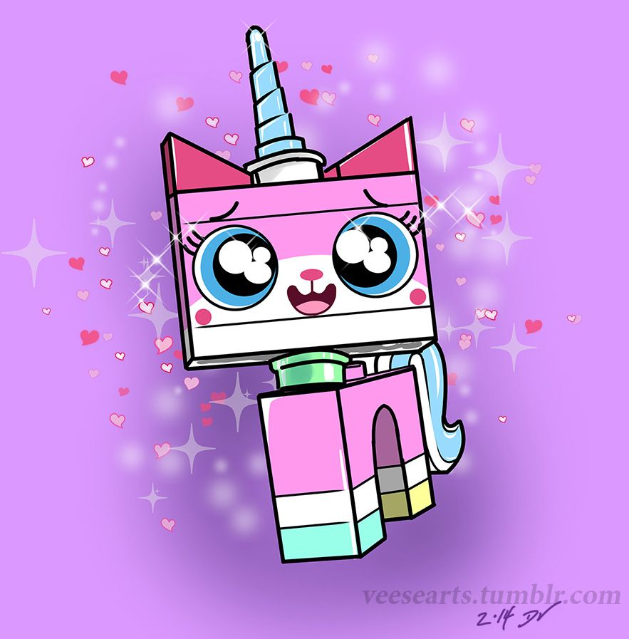 My Unikitty Valentine S Day Digital Sketch For The Lego Movie Fans