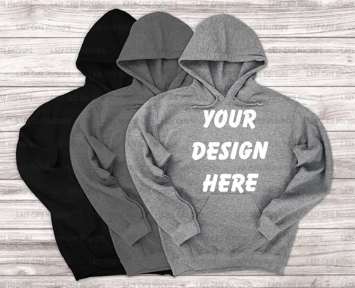 Download Black And Heather Grey Hoodie Gildan Mock Up Gildan 18500 Etsy Hoodie Gildan Hoodie Mockup Hoodies