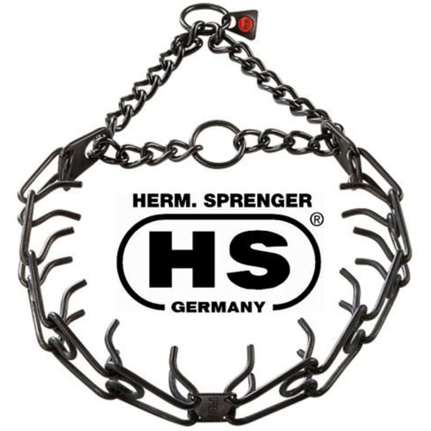 Sprenger Black Stainless Steel 2 25mm Pinch Prong Collar