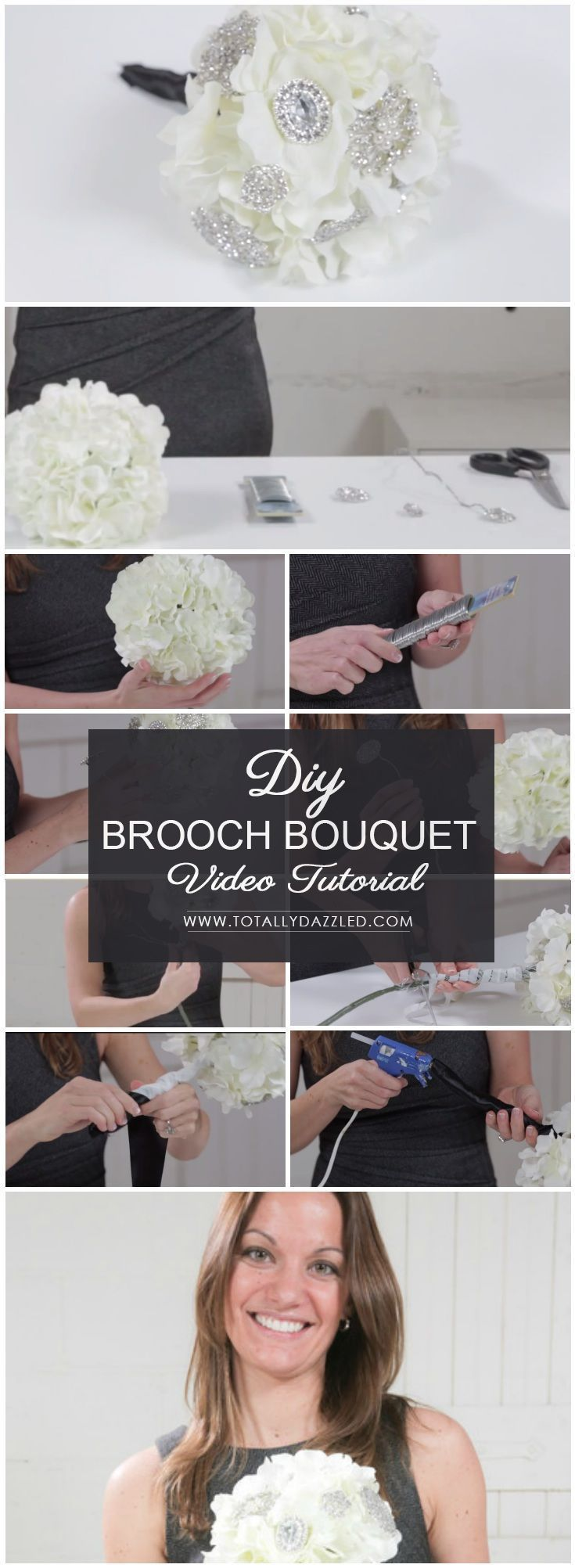 How To Make A Simple Brooch Bouquet Brooch Bouquet Tutorial