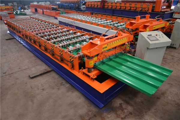 Together With Our Metal Roofing Machine There Are Also Have 7 Ton Manual Decoiler And 2 M Light Steel Framed Receiving Table Roofing Metal Roof Roof Panels