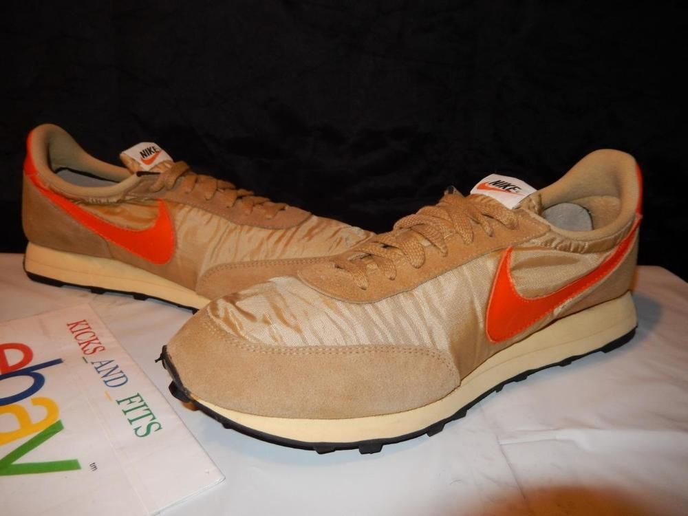 online retailer fbf33 ebf84 VTG OG 1979-1981 Nike Daybreak Made in USA sz 13 Tan Orange Rare waffle  running Nike AthleticSneakers