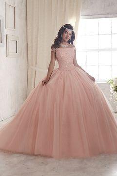 8f4b8de69 2017 de bola del vestido del cuello del barco Quinceañera vestidos de tul  con rebordear