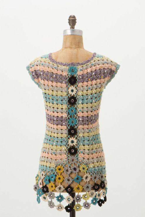 #191 - TOP - nikoshka | Вязаная крючком одежда, Вязаное ...