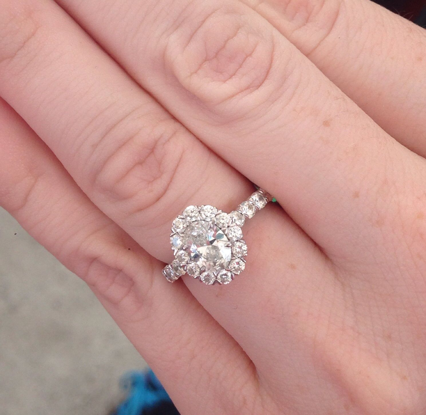Christopher Designs Oval Halo Engagement Ring | Weddingbee Photo ...