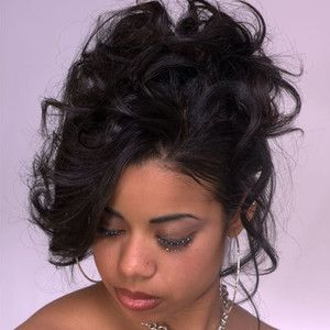 black curly updo hairstyles african