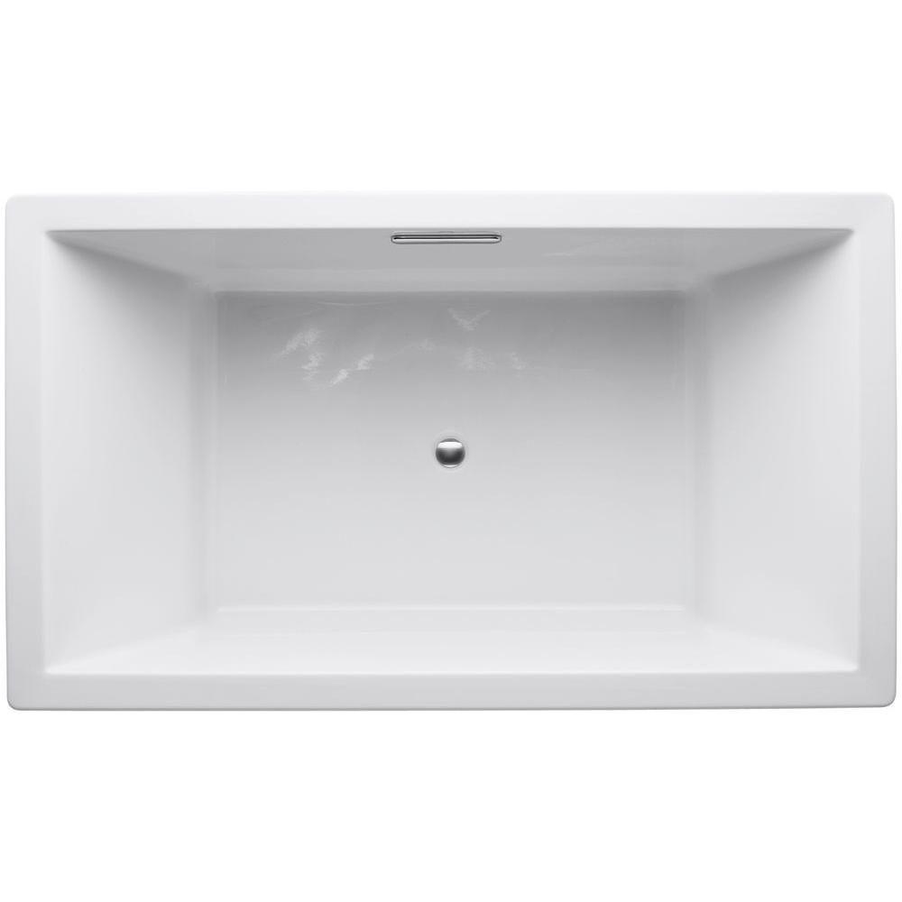 KOHLER Underscore 6 ft. Center Drain Soaking Tub in White | Tubs and ...