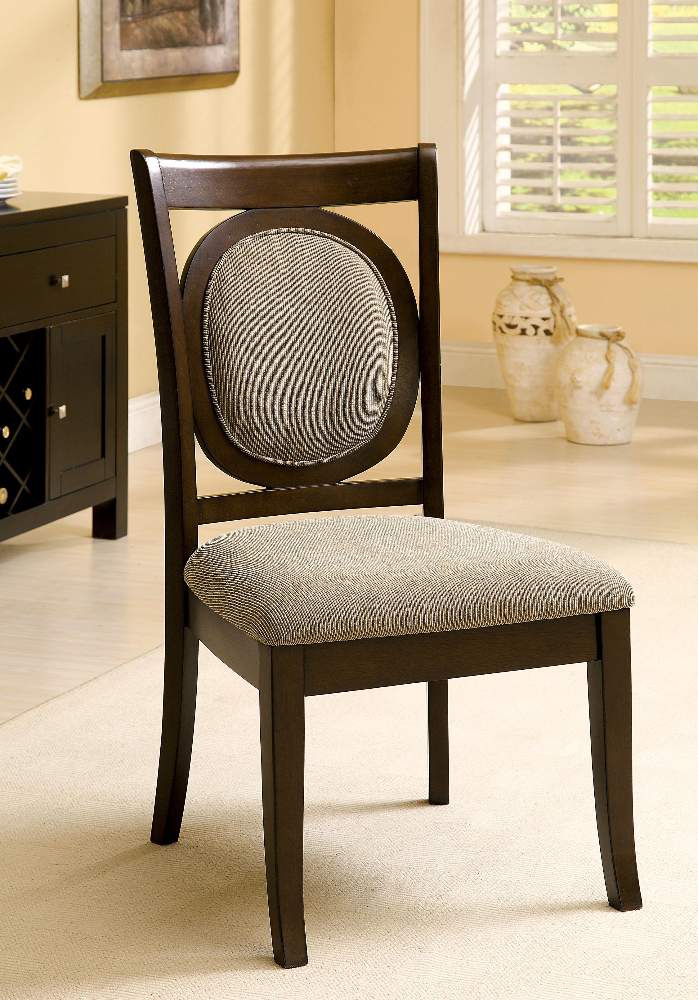 Furniture of America Metea Walnut Dining Chair (Set of 2), Brown