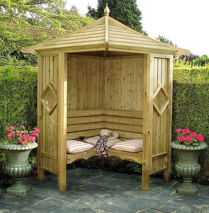 45 Garden Arbor Bench Design Ideas Diy Kits You Can Build Over Weekend Garden Gazebo Garden Seating Garden Buildings