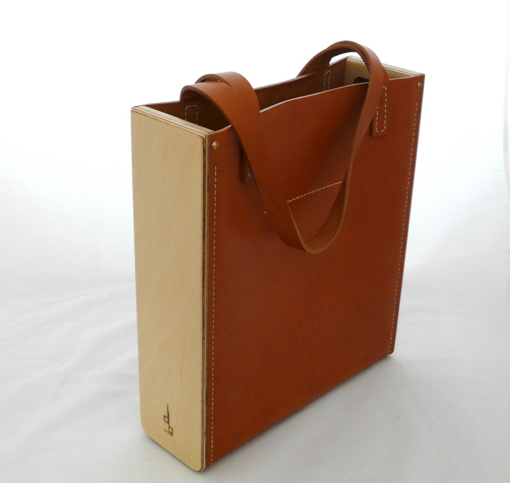 Le Tote Bag Sac Bois Cuir Damien Beal With Images Torba Torby