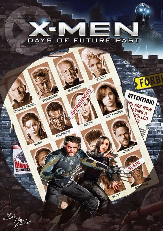 X-Men: Days of Future Past cover homage by Mark Kelly: