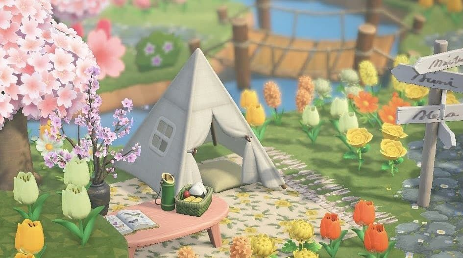 Animal Crossing Codes Designs On Instagram Who Miss Spring And The Cherry Blossom Season For Northern H In 2021 Animal Crossing Spring Animals Cherry Blossom Season