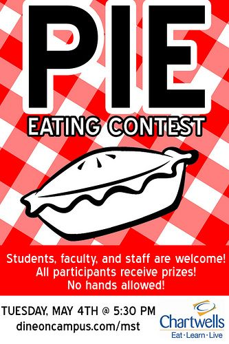 pie eating contest poster