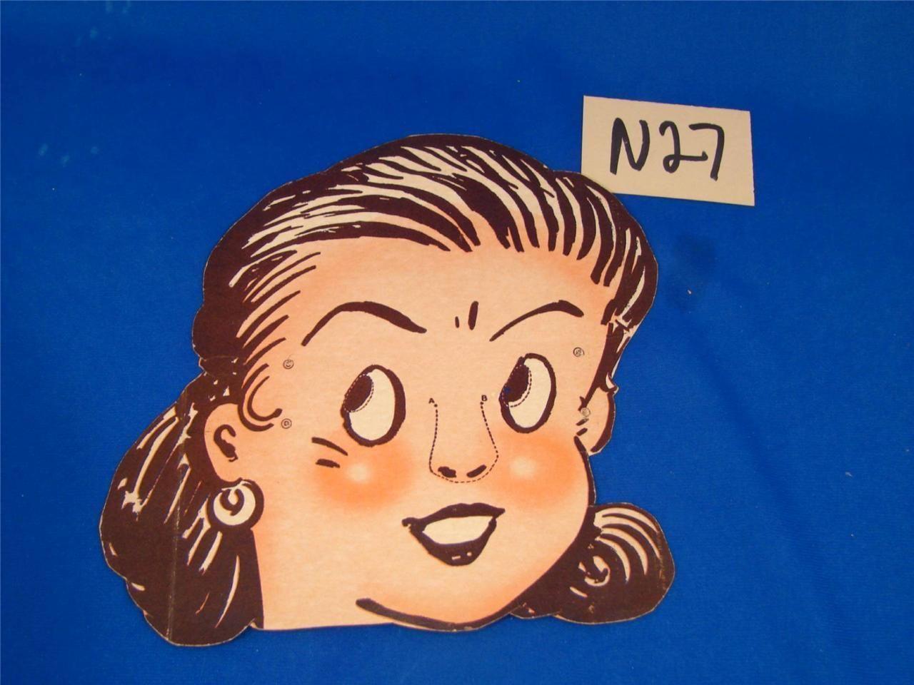 n27 vintage cereal box premium halloween mask girl - Premium Halloween Masks