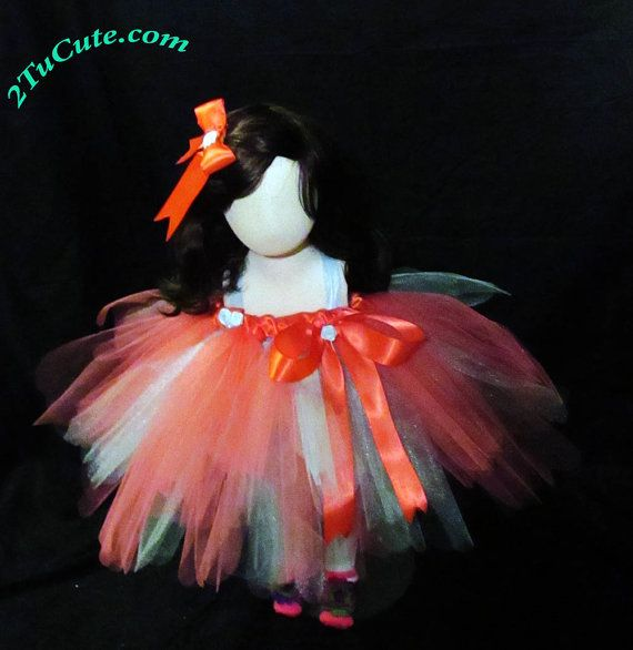 Coral and Blue Fashion Tutu by NayomiInspired on Etsy
