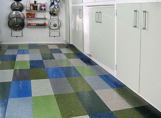 Color Your Floor Old School Vinyl Tile Patterns White Vinyl