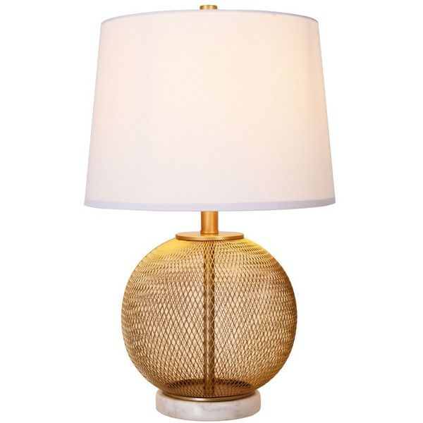Cupcakes Cashmere Mesh Marble Table Lamp 150 Liked On Polyvore Featuring Home Lighting Table Lamps Metallic Gold Marble Table Lamp Table Lamp Lamp